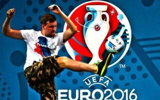 logo EURO 2016 facut de huliganii rusi