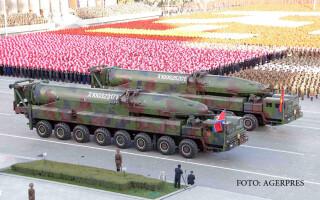rachete nord-coreene la o parada militara