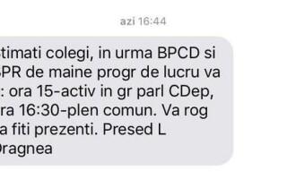 SMS Dragnea parlamentari