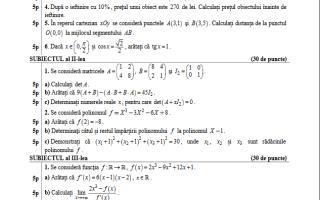 bac 2017 matematica profil tehnologic model subiect