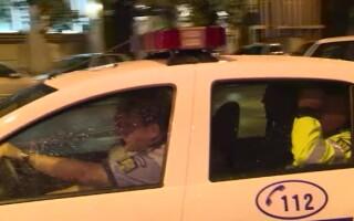politisti in masina