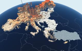 grafic PIB pe cap de locuitor pe regiuni NUTS-III