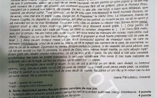 SUBIECTE LIMBA ROMÂNĂ EVALUARE NAȚIONALĂ 2018 EDU.RO