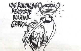 Simona Halep Charlie Hebdo