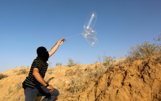 Fasia Gaza, baloane teroriste