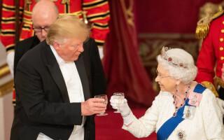 Imagini spectaculoase de la dineul oferit de Regină în cinstea lui Trump - 18