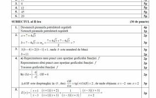 barem model matematica