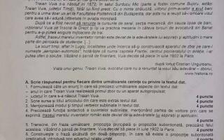 Subiecte Română Evaluare Naţională 2020