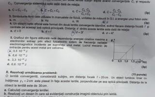 SUBIECTE FIZICA BAC 2020 - 1
