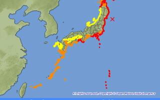 Harta tsunami in Japonia