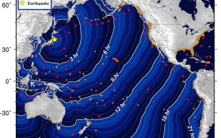 Harta propagarii tsunami