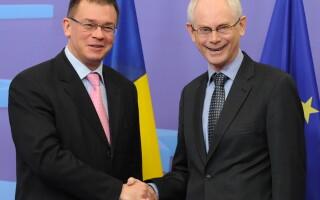 Herman Van Rompuy si Mihai Razvan Ungureanu