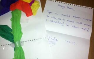 floare, cadoul Alexiei pentru Andreea Esca