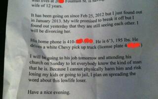 mesaj despre amantul sotiei