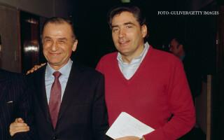 Petre ROman si Ion Iliescu la prima sedinta FSN