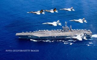 portavion american in largul Filipinelor