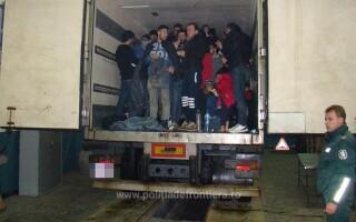camion cu refugiati irakieni