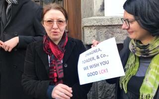 Protest al profesorilor și studenților față de modificările legislative din justiţie