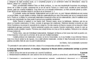 SIMULARE BACALAUREAT 2019. Subiecte și barem de corectare la Limba Română