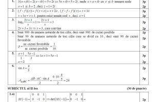 barem matematica stiintele naturii