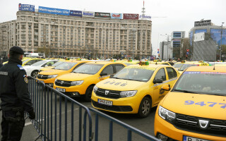 proteste, taxi, taxiuri
