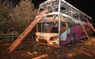 autobuz incendiat China