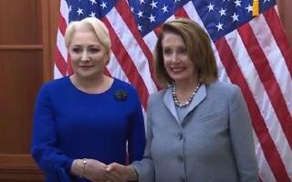 Viorica Dăncilă s-a întâlnit cu Nancy Pelosi