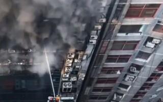 Incendiu puternic în capitală