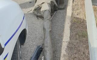 Accident produs de un tanc pe Autostrada Soarelui