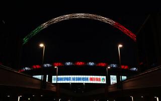 Arena Wembley, luminată în culorile drapelului italian în ziua în care ar fi trebuit să aibă loc un amical Anglia – Italia