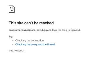 platforma de programare a vaccinurilor