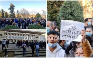 Protest cu sute de persoane, la Constanța: