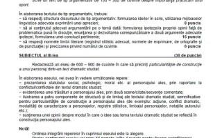 BACALAUREAT 2014, subiecte la proba scrisa de limba romana- profilul REAL