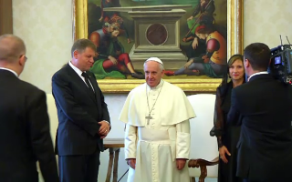 Klaus Iohannis si Papa Francisc - stiri