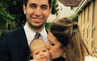 Samuel cu sotia si copilul