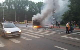 iasi, foc, autobuz,