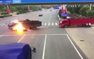 accident, china, foc, motocicleta