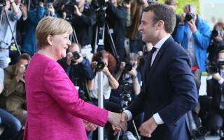 Prima vizita oficiala a lui Macron in Berlin