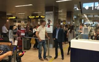 Lucian Bute, aeropoort