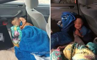 copil ascuns in masina