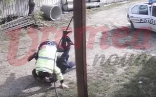 conflict intre politisti si un barbat din Vaslui