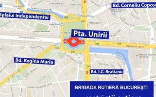 Harta restricțiilor de trafic în București
