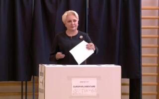 Viorica Dancila la sectia de votare