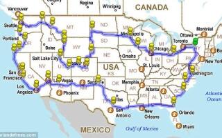 calatorie in jurul Americii