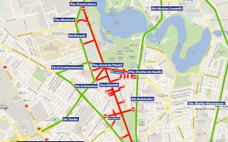 Harta restrictii trafic 1 decembrie