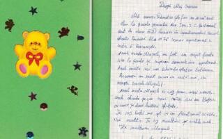Scrisoare copil institutionalizat