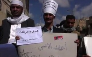 Protestatari in Yemen