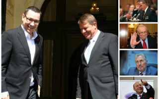 Klaus Iohannis, Victor Ponta, Nicolae Ceausescu, Ion Iliescu, Emil Constantinescu, Traian Basescu
