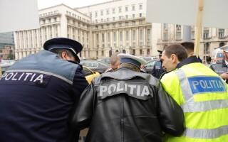 Protest organizat de Sindicatul National al Agentilor de Politie