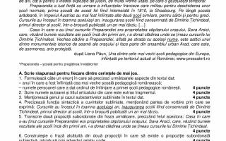 Evaluare Națională - Limba şi Literatura română